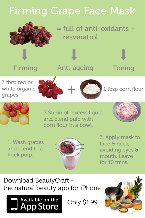 BeautyCraft Beauty App - Firming Grape Face Mask