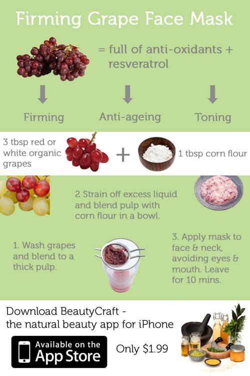 BeautyCraft Beauty App - Firming Grape Face Mask