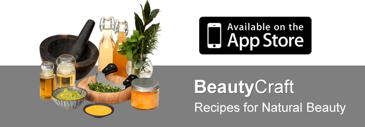 Over 70 recipes in BeautyCraft app
